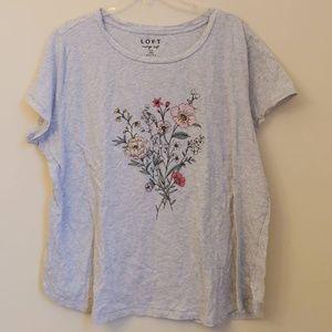 LOFT Floral Vintage Soft Graphic T-Shirt Top